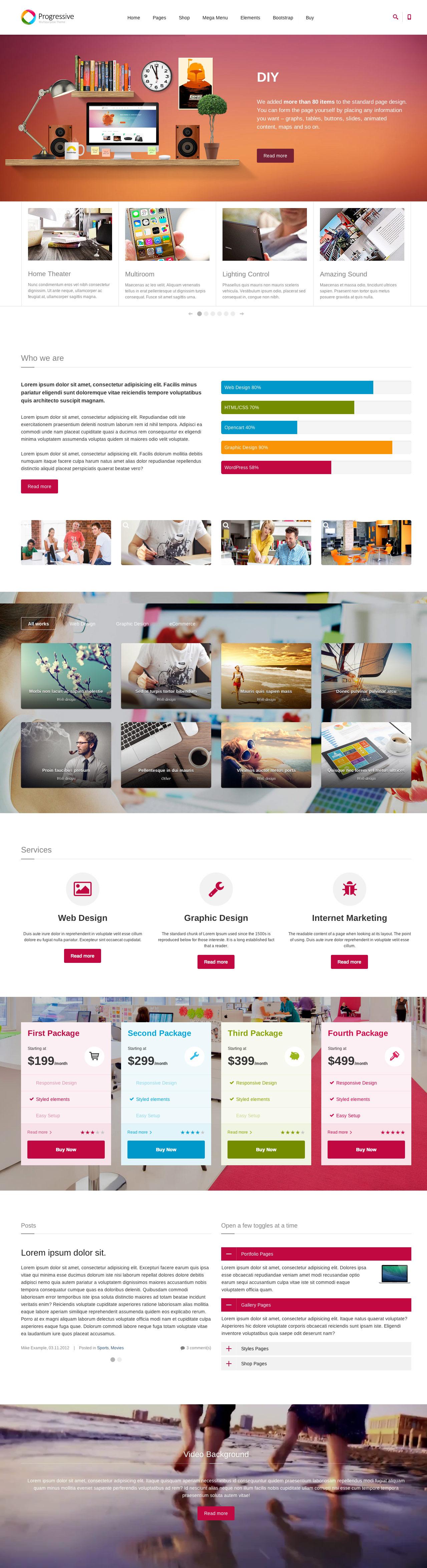 Progressive Website Screenshot