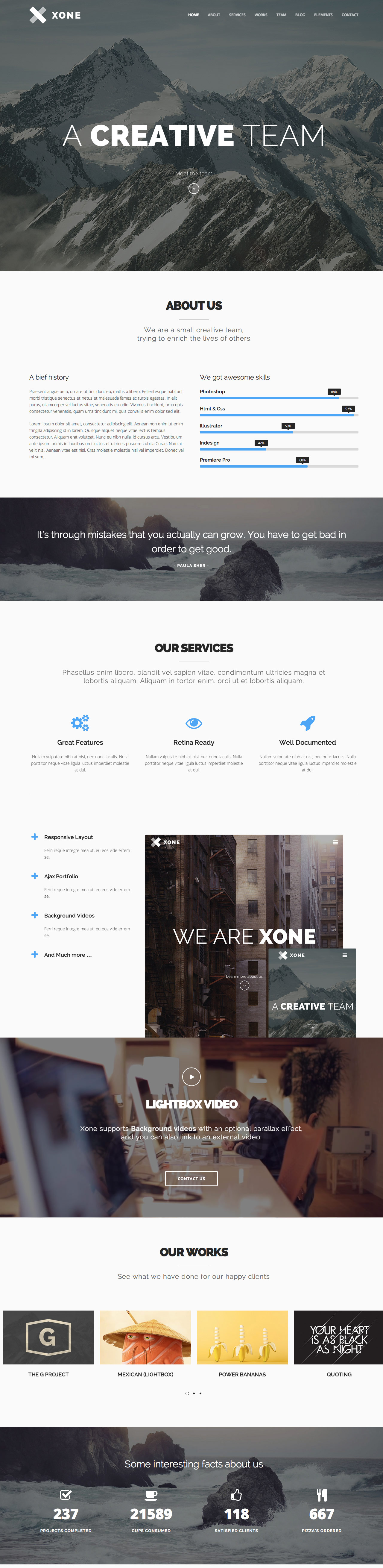 Xone Website Screenshot