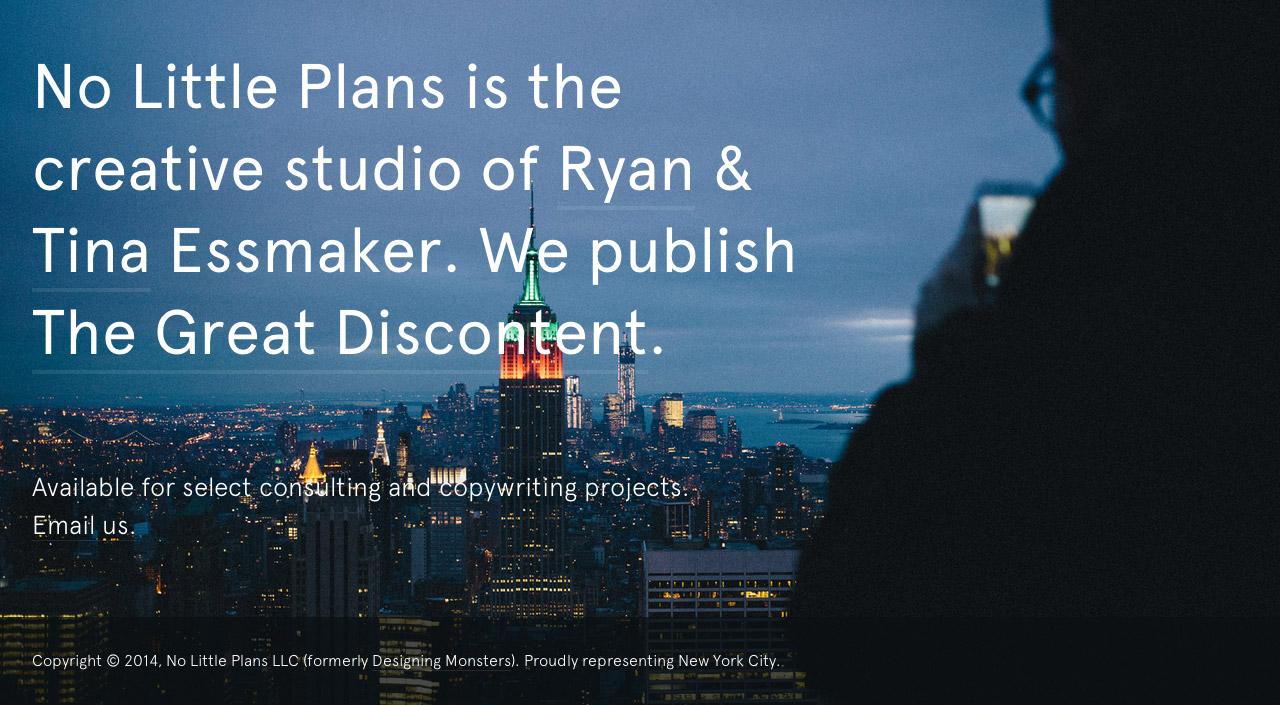 No Little Plans Website Screenshot