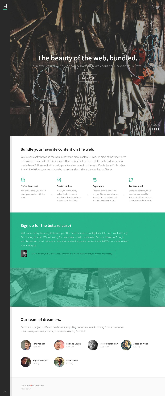 Bundlin Website Screenshot