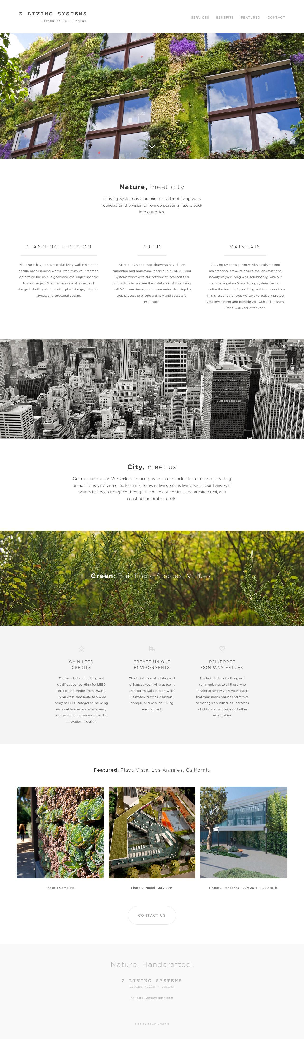 Z Living Systems Website Screenshot