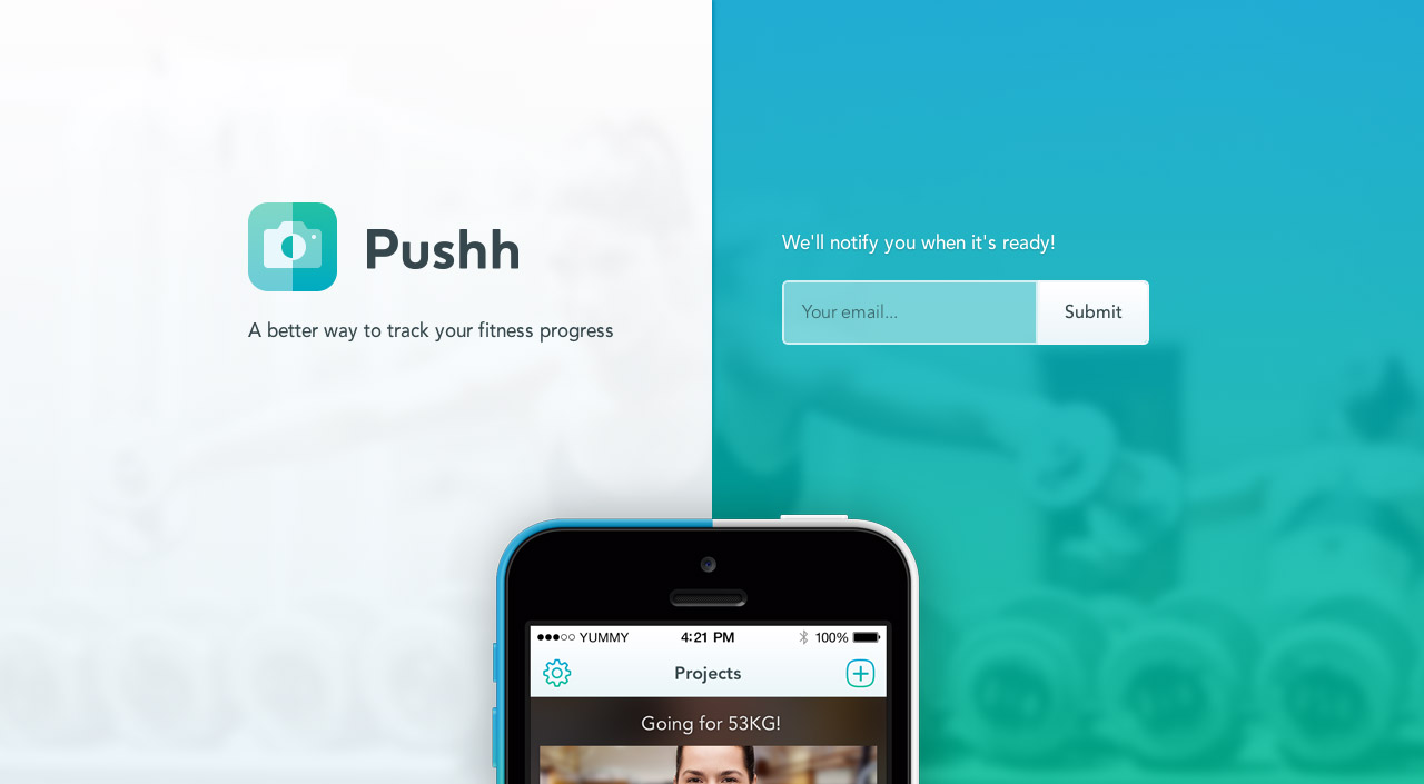 Pushh Website Screenshot