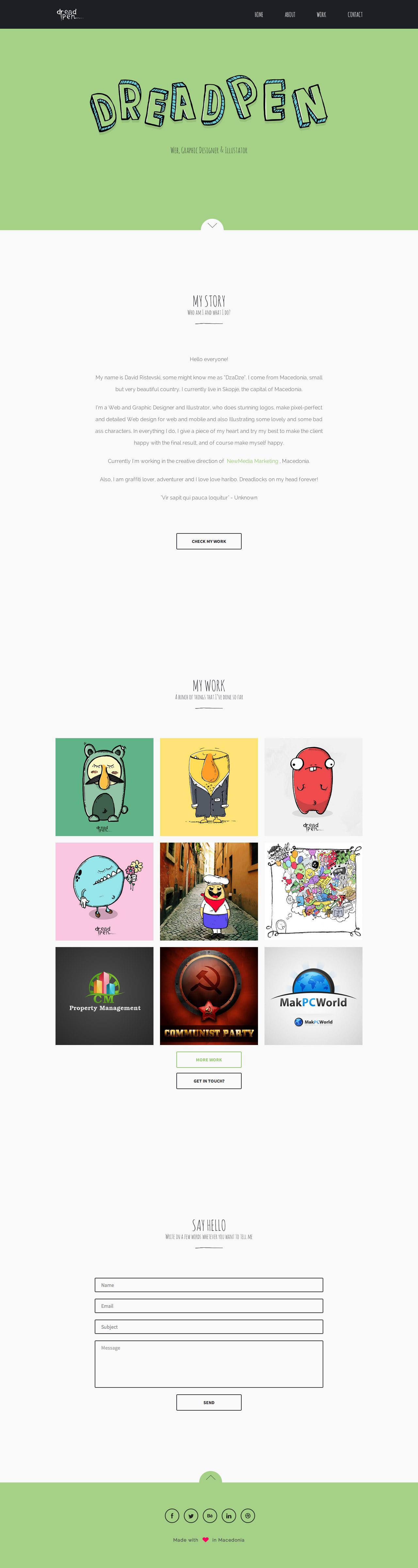 Dreadpen Website Screenshot