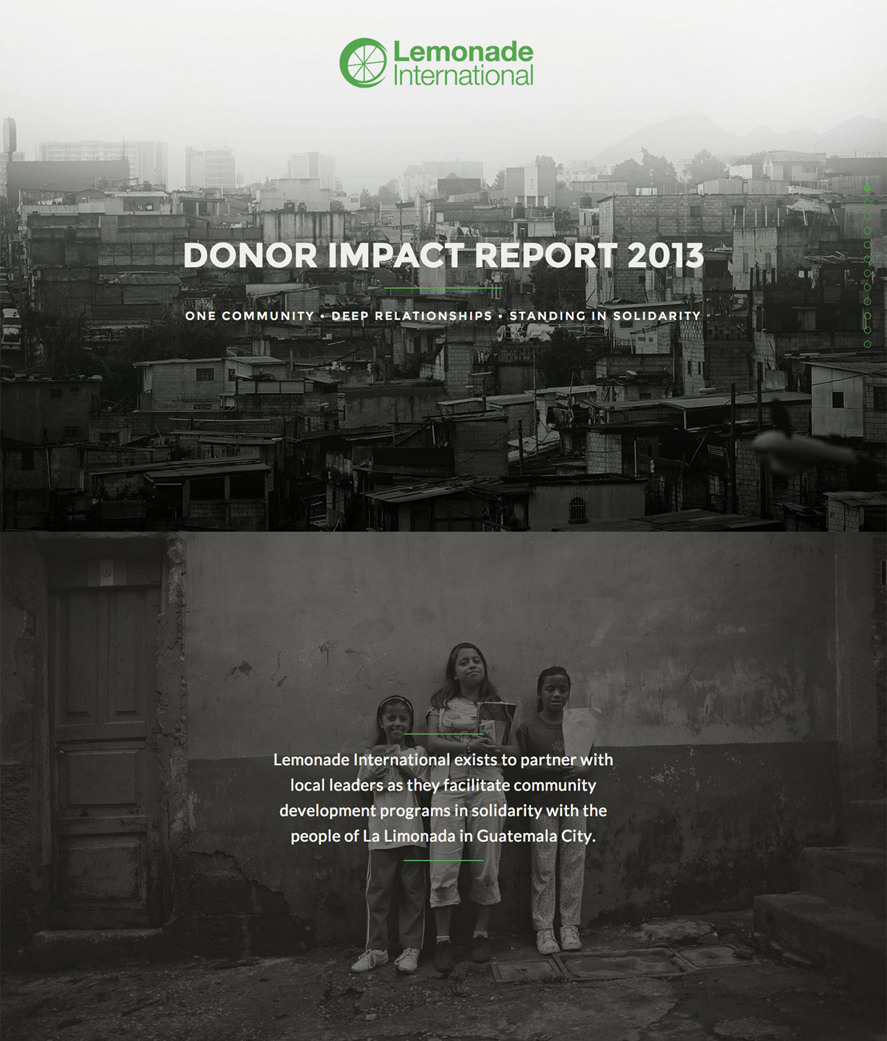 Lemonade International – Annual Report 2013 Website Screenshot