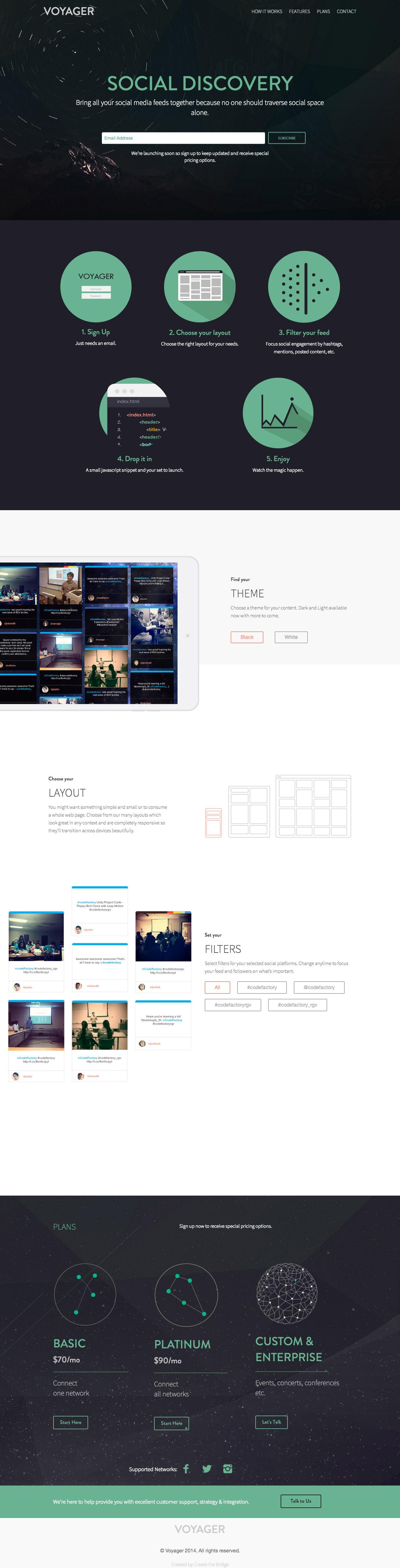 Voyager Website Screenshot