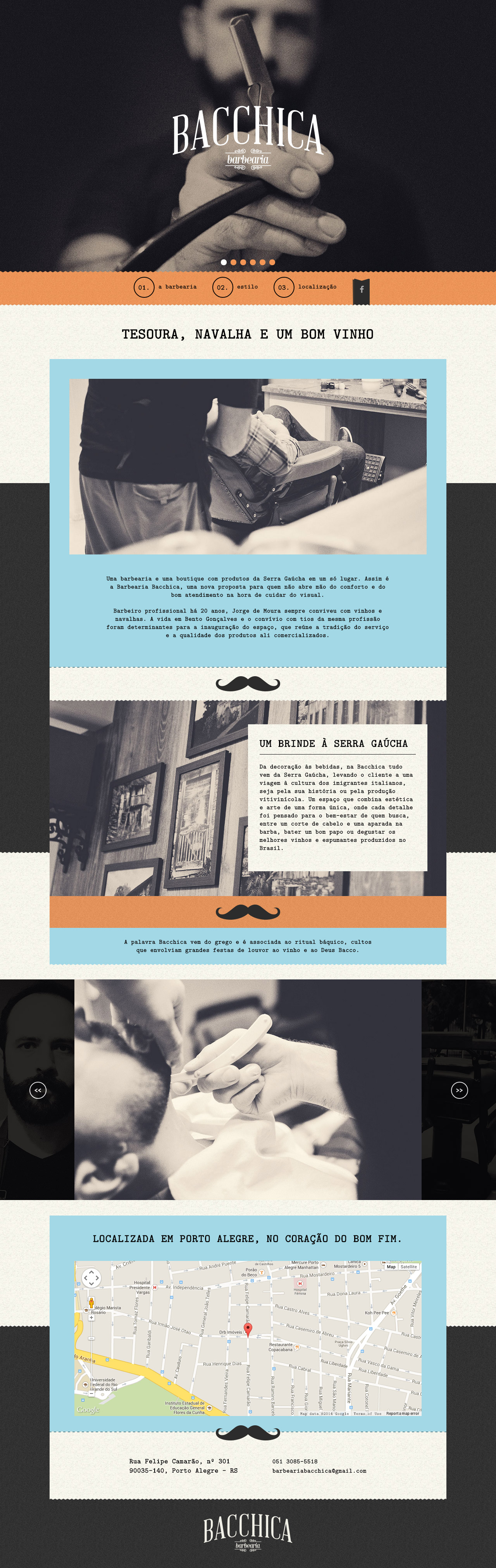 Bacchica Barbearia Website Screenshot