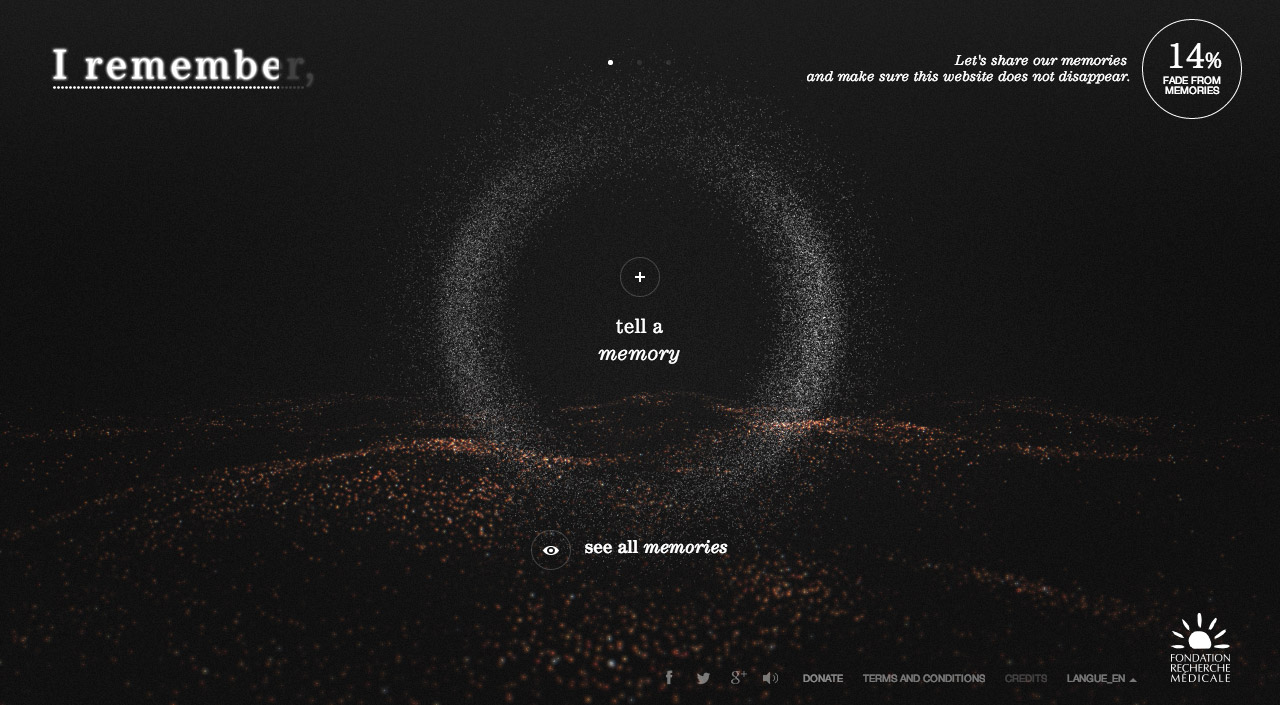 I Remember Website Screenshot