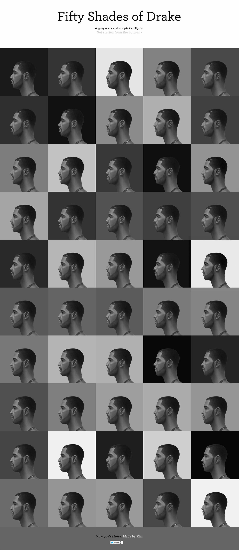 50 Shades of Drake Website Screenshot