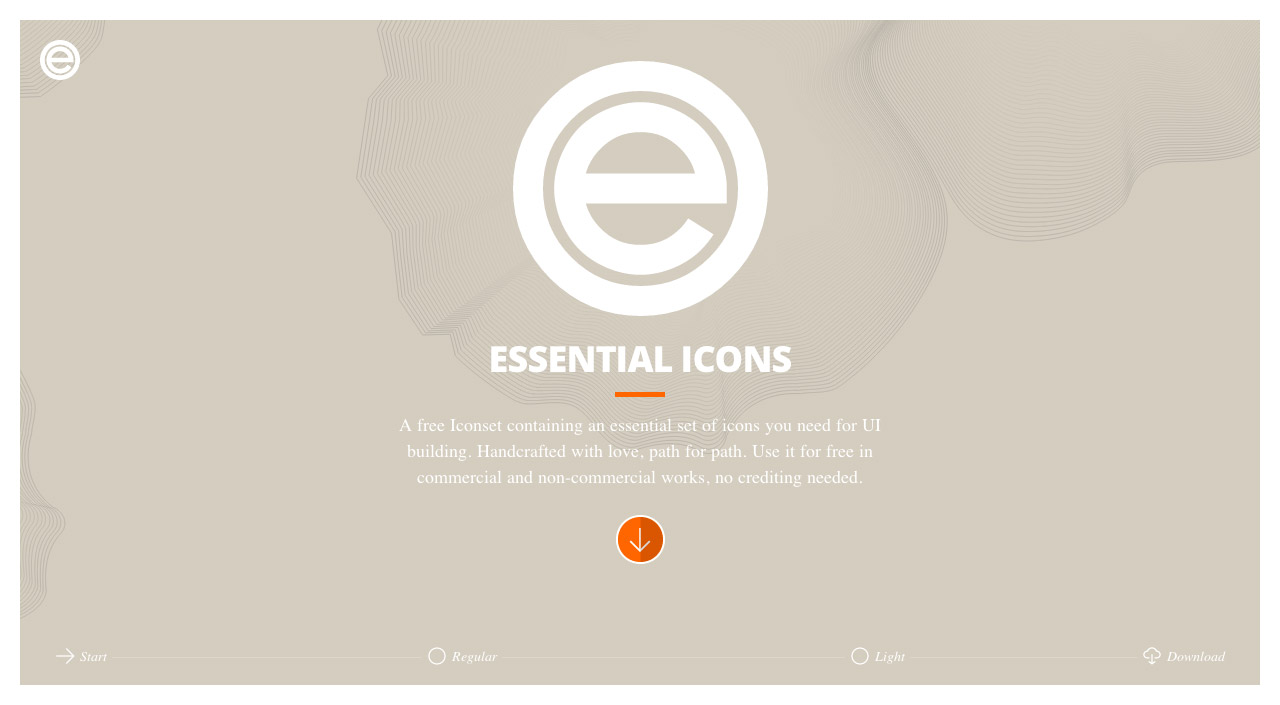 Essential Icons Website Screenshot