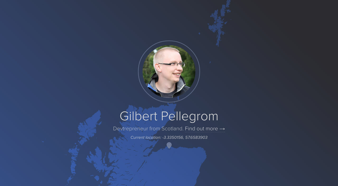 Gilbert Pellegrom Website Screenshot