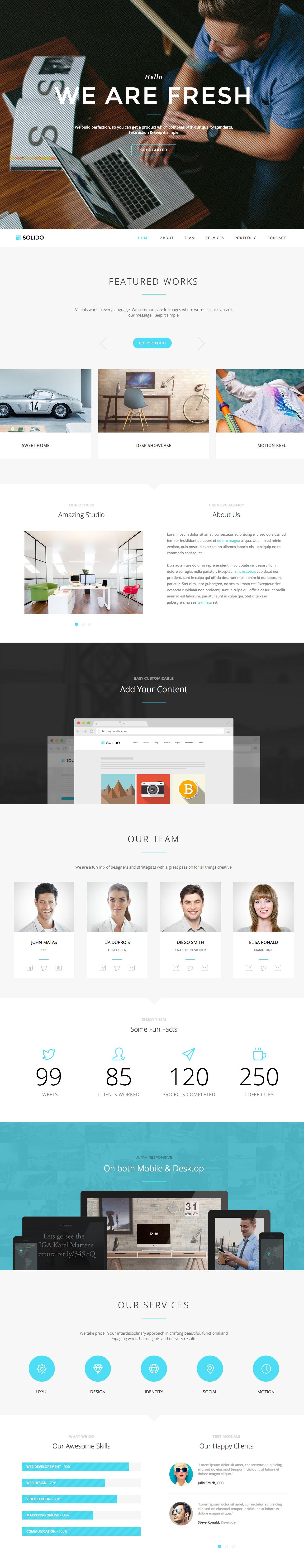 Solido Website Screenshot