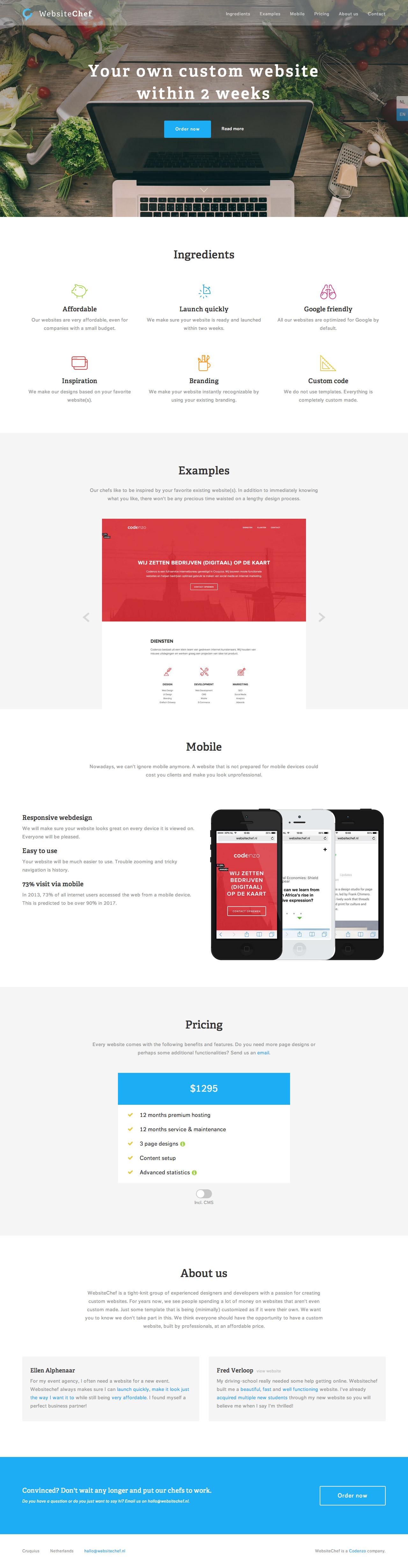 Website Chef Website Screenshot