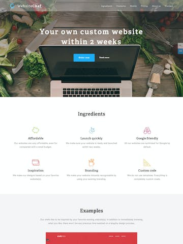 Website Chef Thumbnail Preview