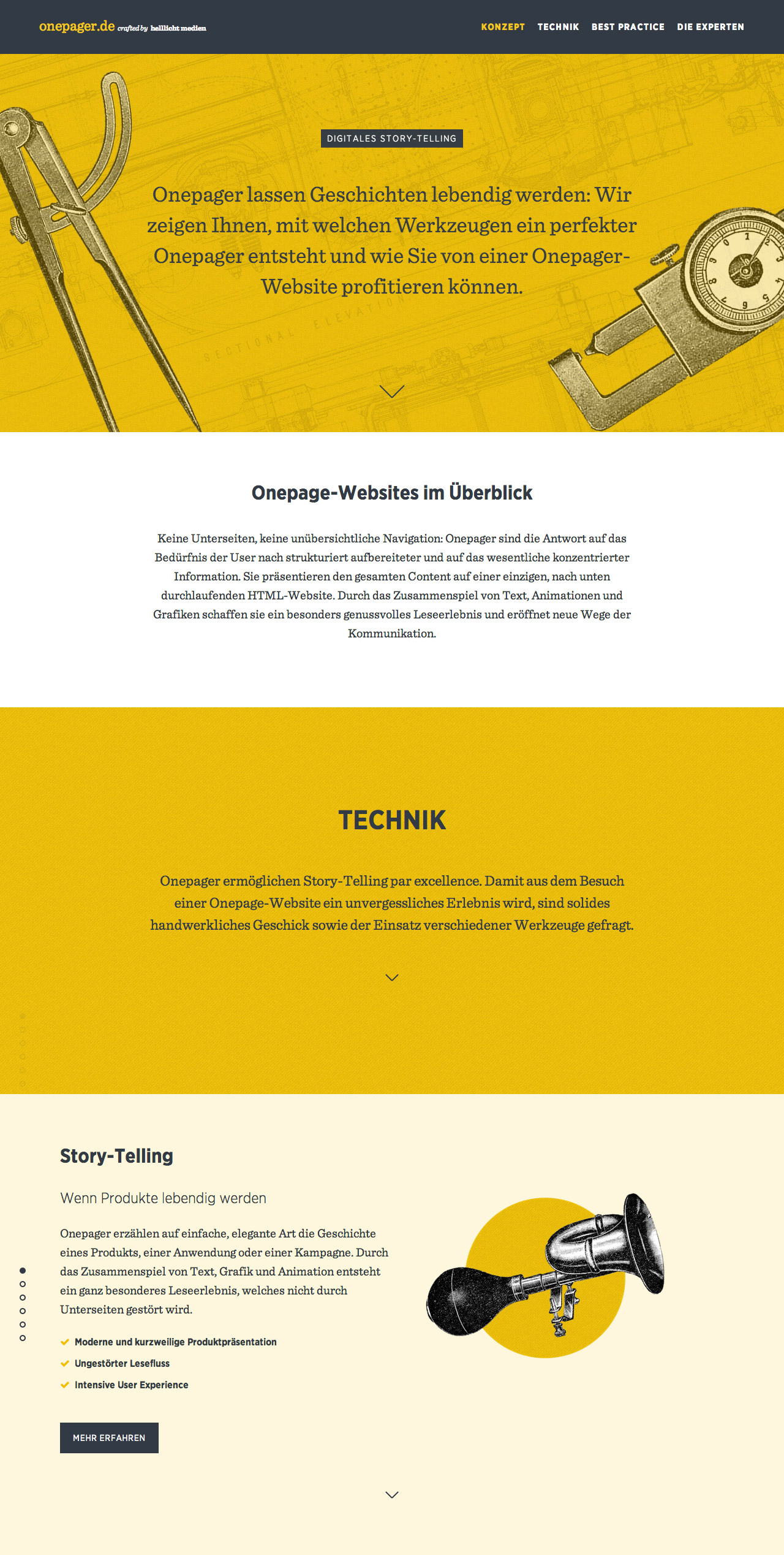 Onepager.de Website Screenshot