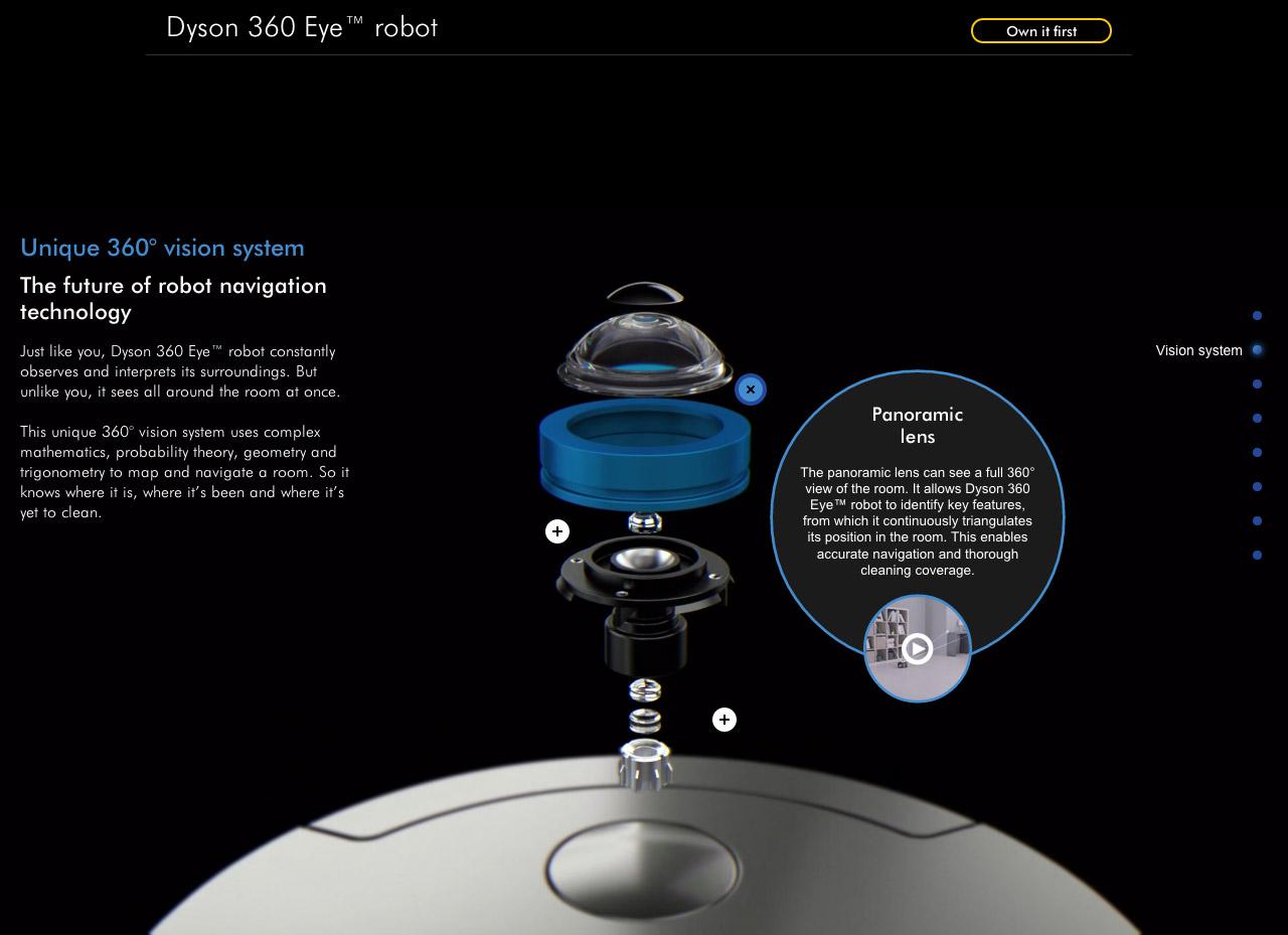 Dyson 360 Eye robot Website Screenshot