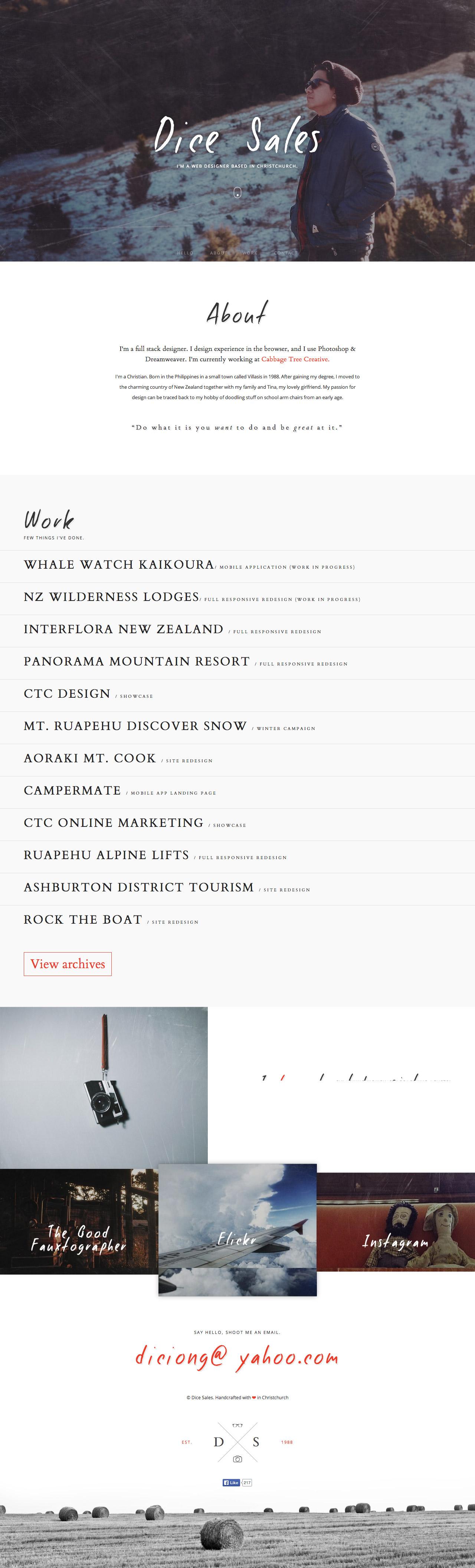 Dice Sales Website Screenshot