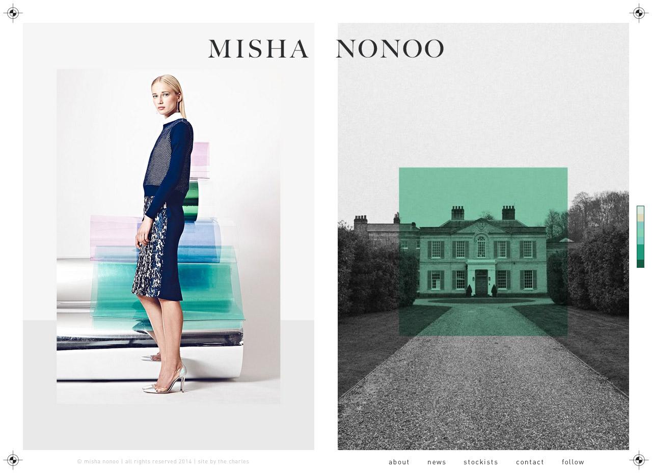 Misha Nonoo Website Screenshot