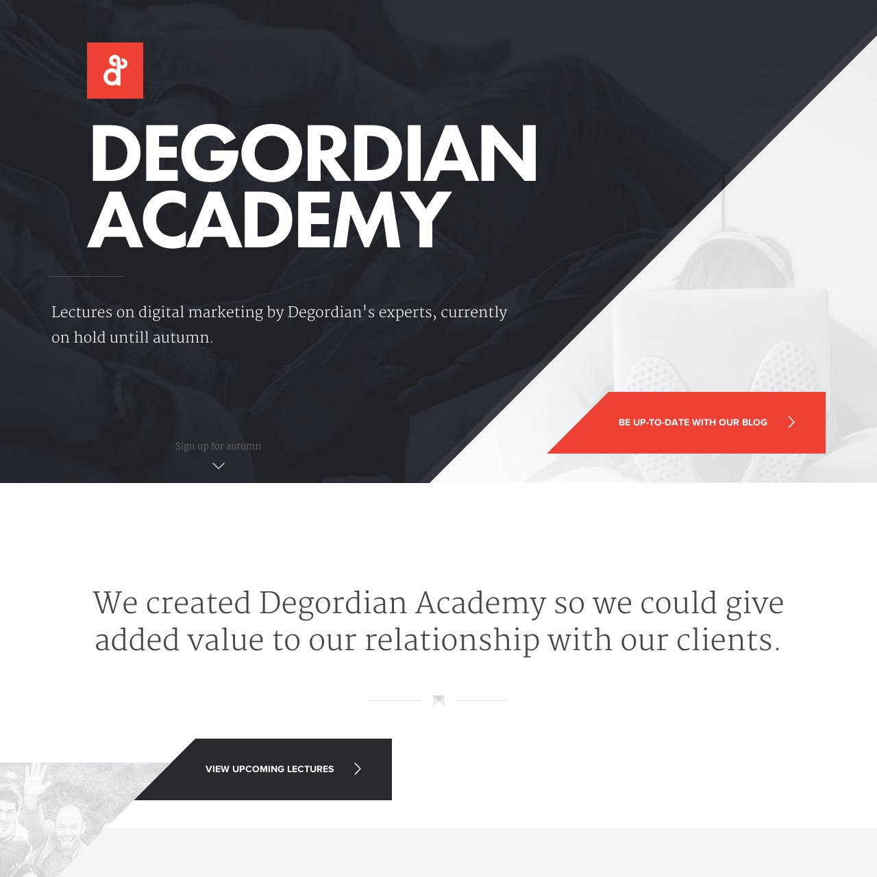 Degordian Academy Website Screenshot