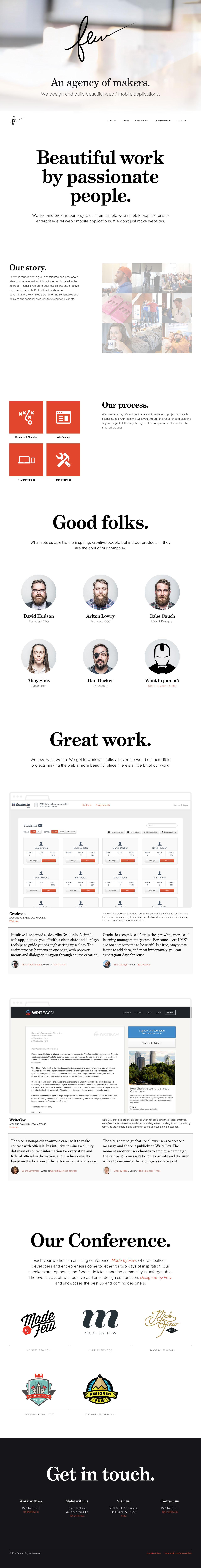 Few Website Screenshot