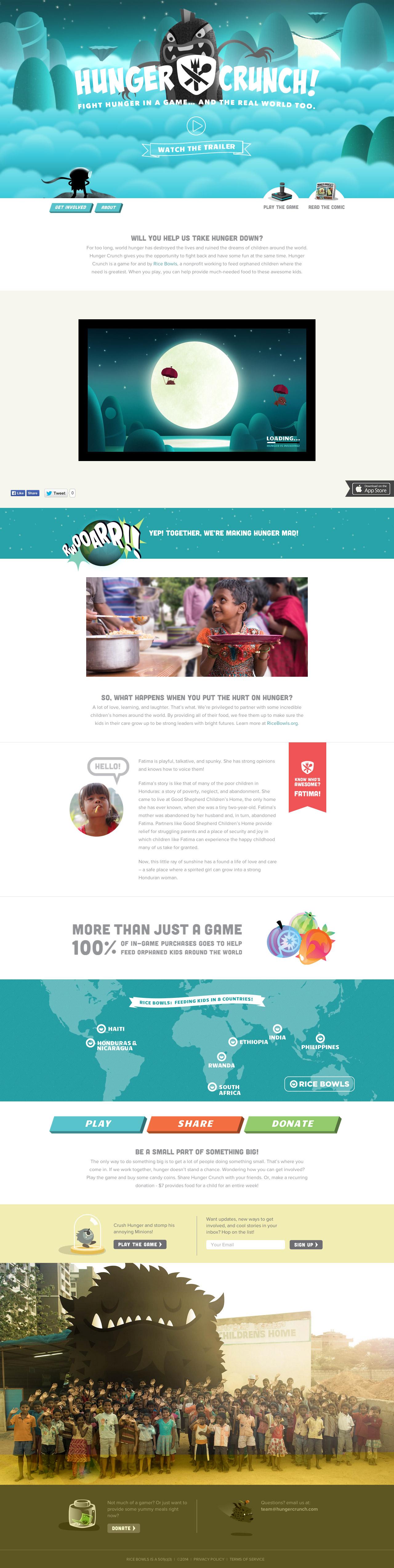 Hunger Crunch Website Screenshot