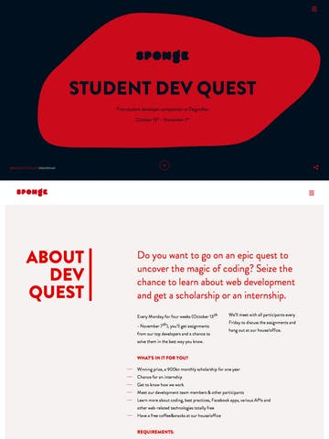 Sponge – Student Dev Quest Thumbnail Preview