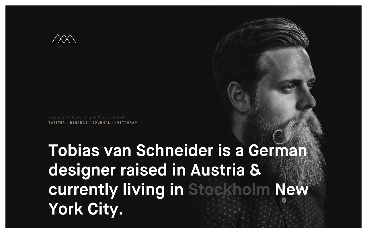 Tobias van Schneider Website Screenshot