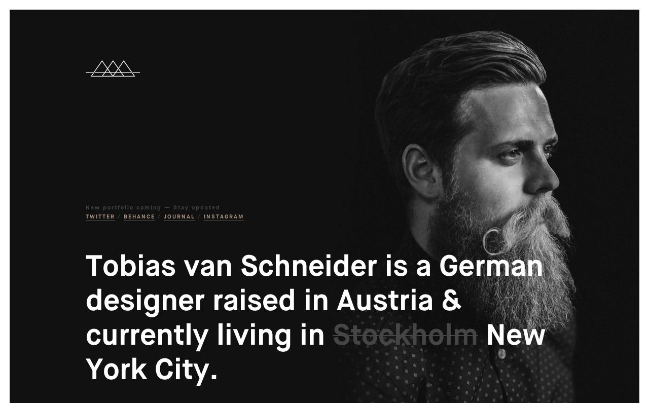 Tobias van Schneider Website Screenshot