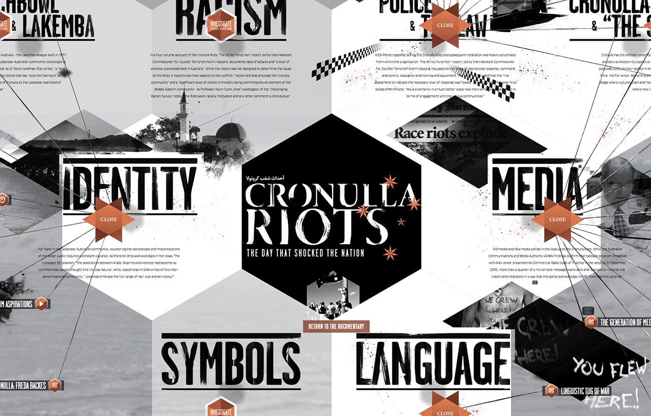 Cronulla Riots Website Screenshot