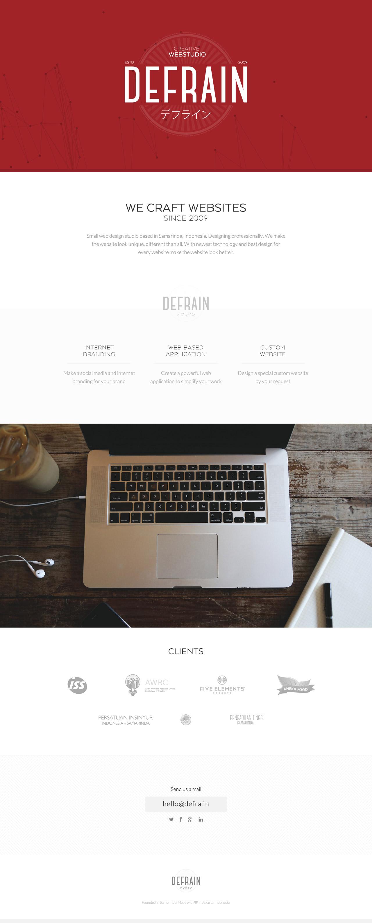 Defrain Webstudio Website Screenshot