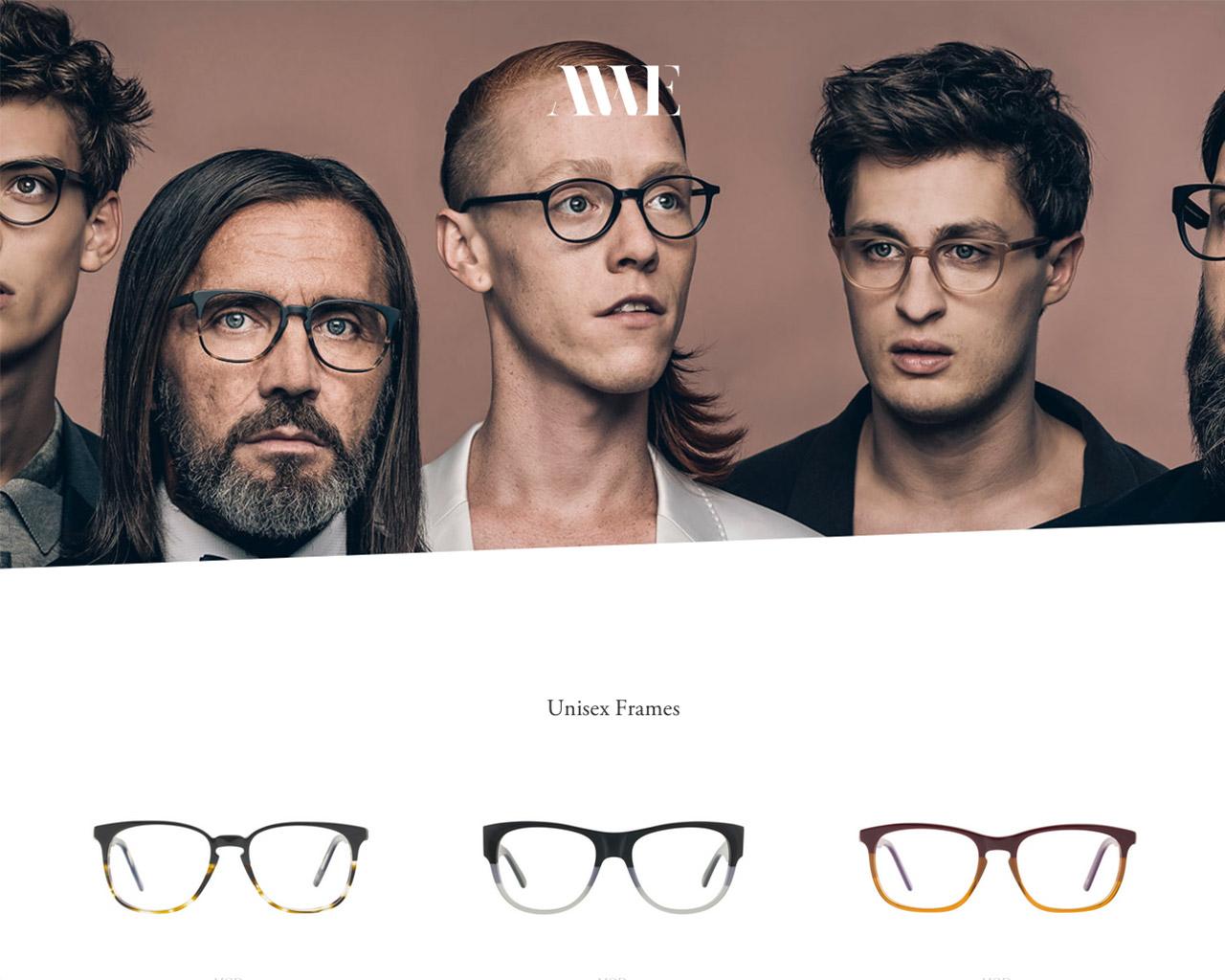Andy Wolf Eyewear – Awe Website Screenshot