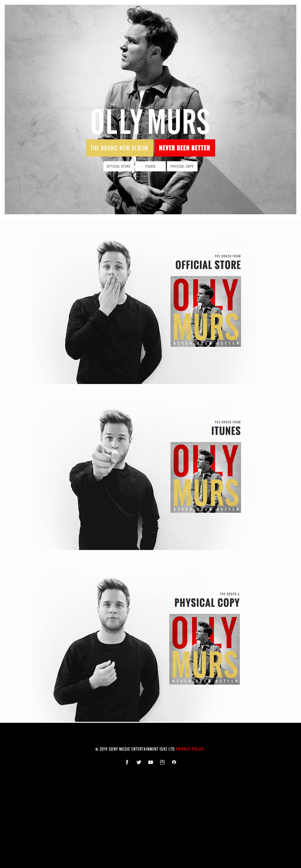 Olly Murs Website Screenshot