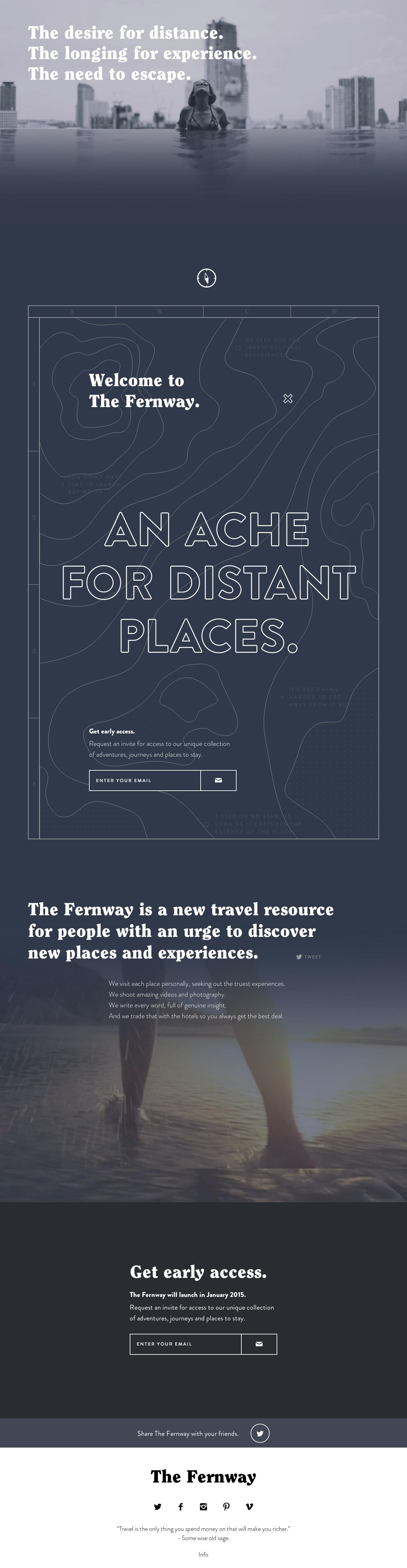The Fernway Website Screenshot