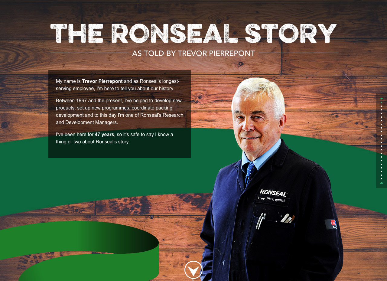 The Ronseal Story Website Screenshot