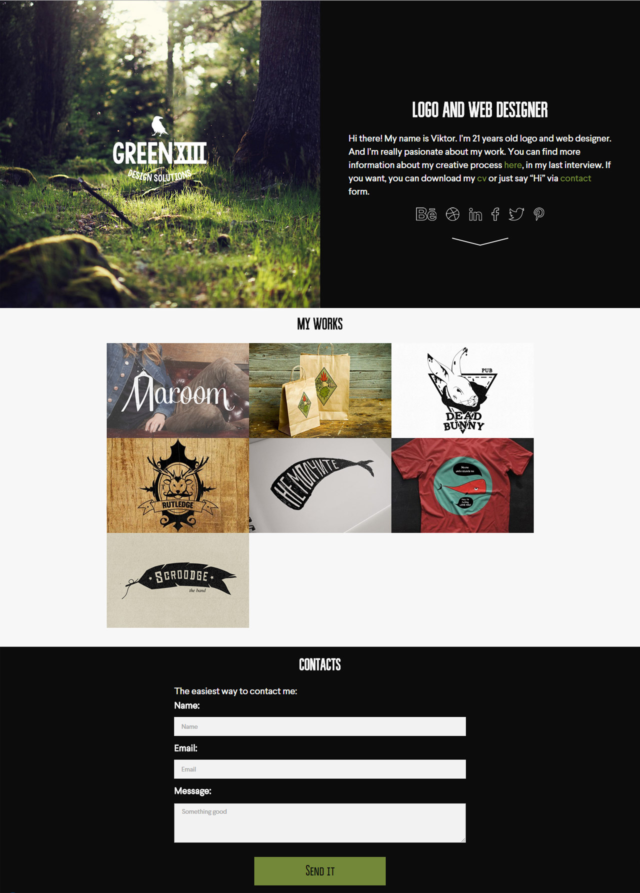 GreenXIII Website Screenshot