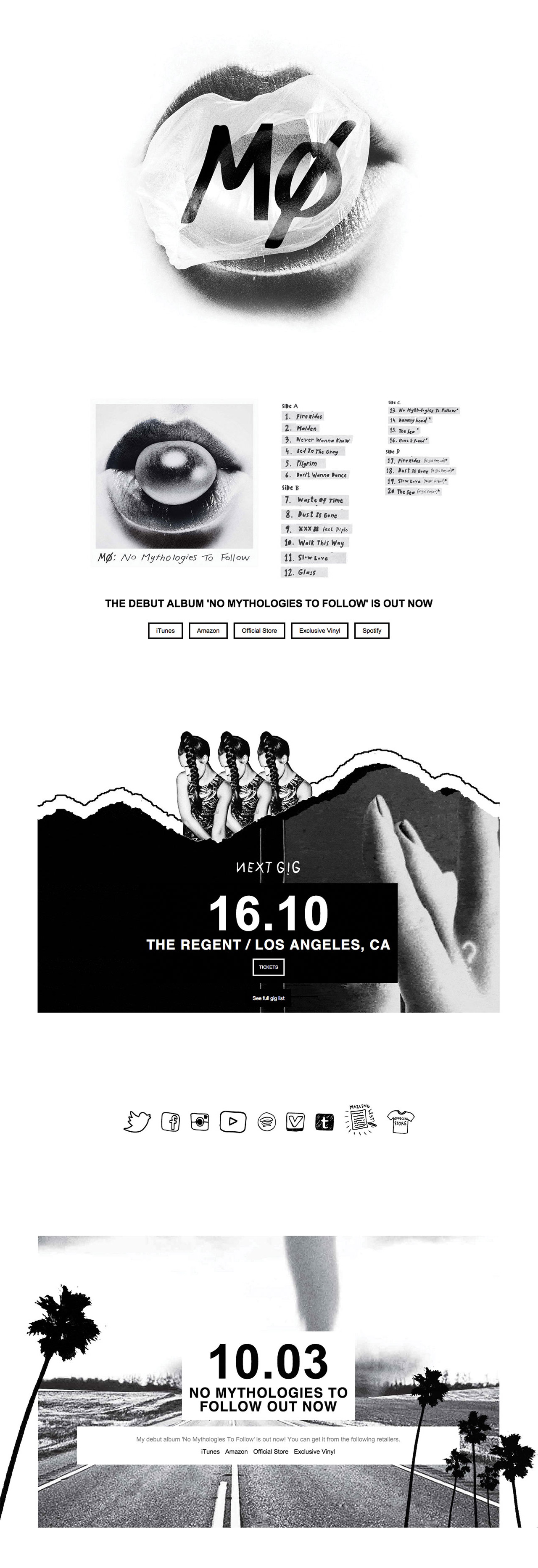 MØ Website Screenshot