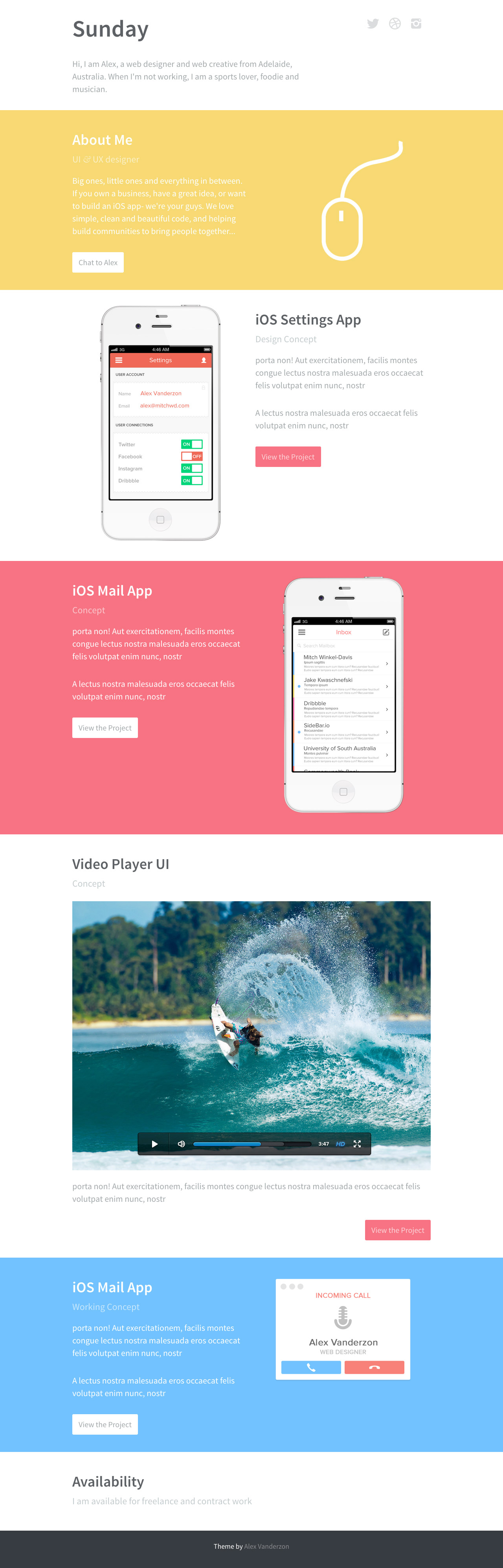 Sunday Website Screenshot