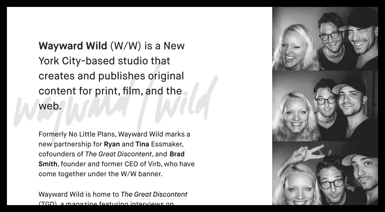 Wayward Wild Website Screenshot
