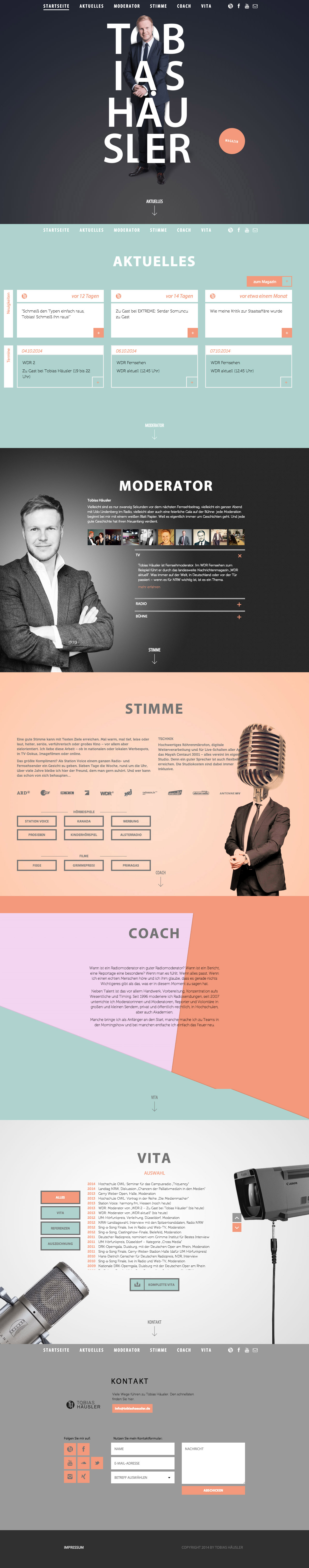 Tobias Häusler Website Screenshot