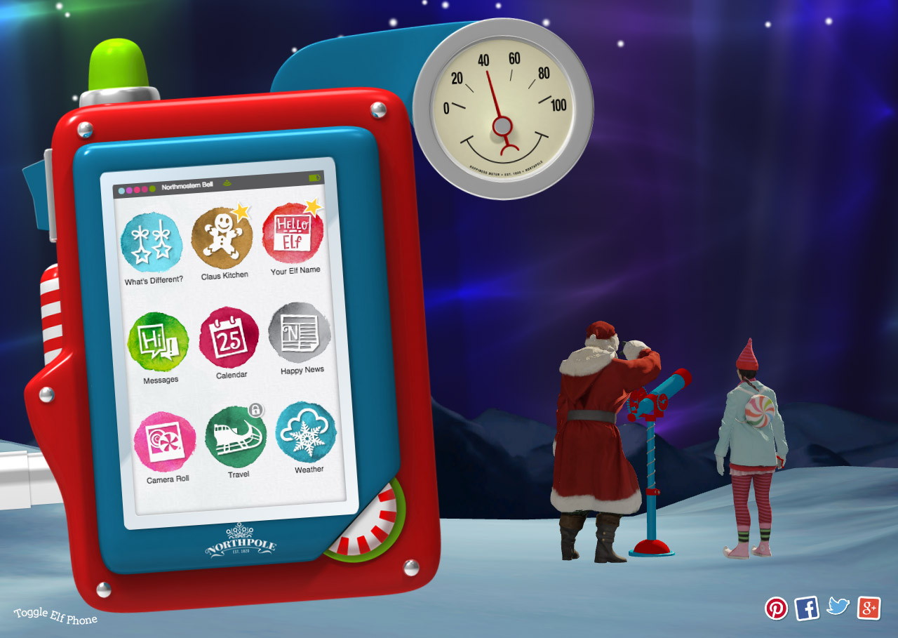 "Northpole ""Share the Happiness"" Website Screenshot"