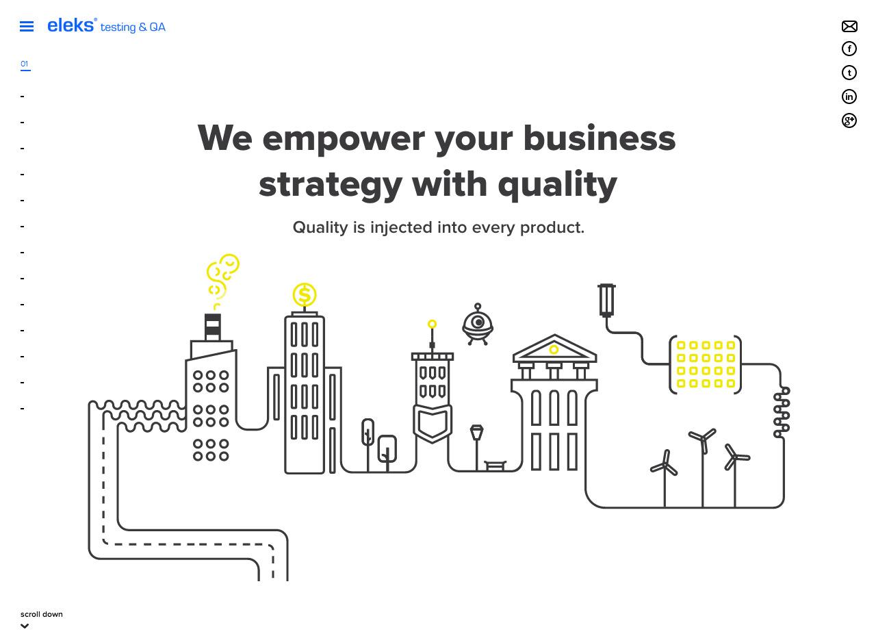 ELEKS Quality Assurance and Testing Reimagined Website Screenshot