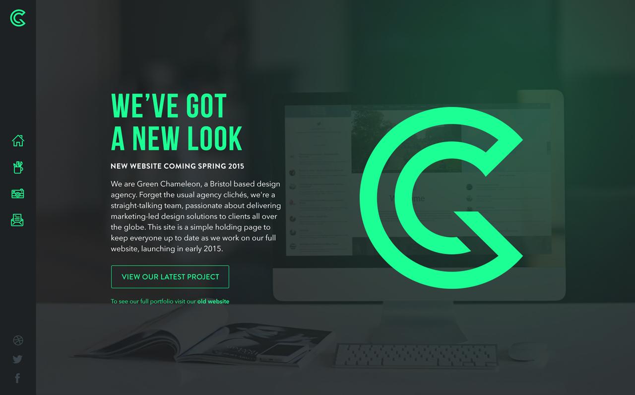 Green Chameleon Website Screenshot