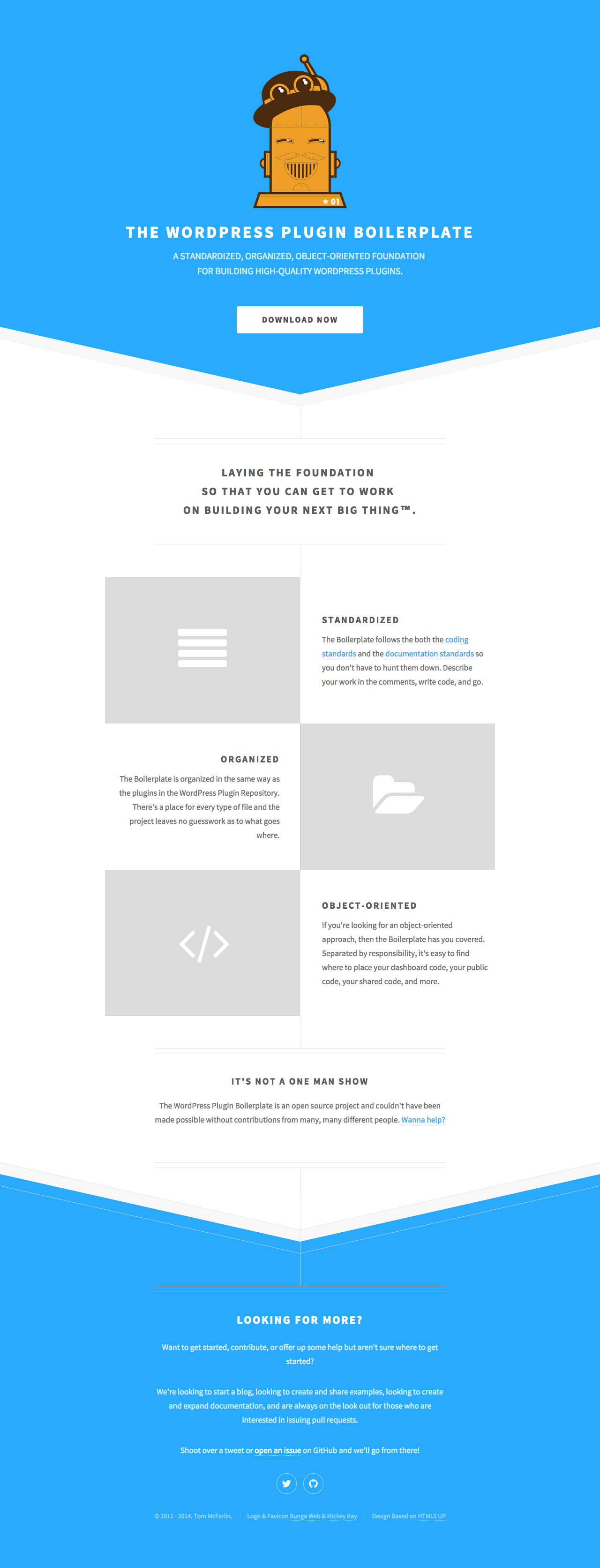 The WordPress Plugin Boilerplate Website Screenshot