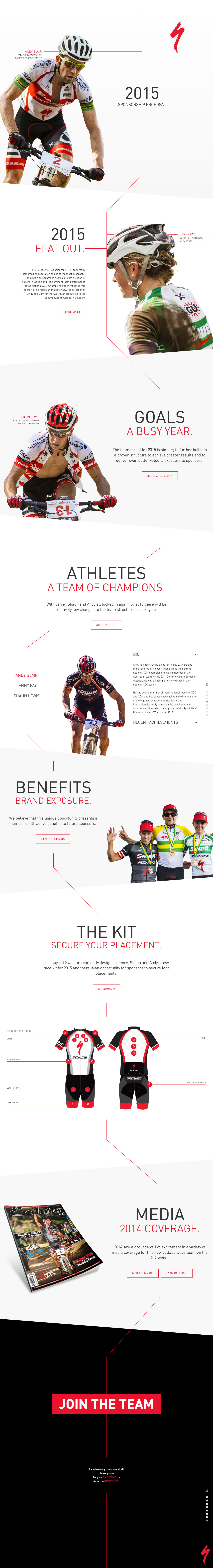 Swell Specialized Website Screenshot