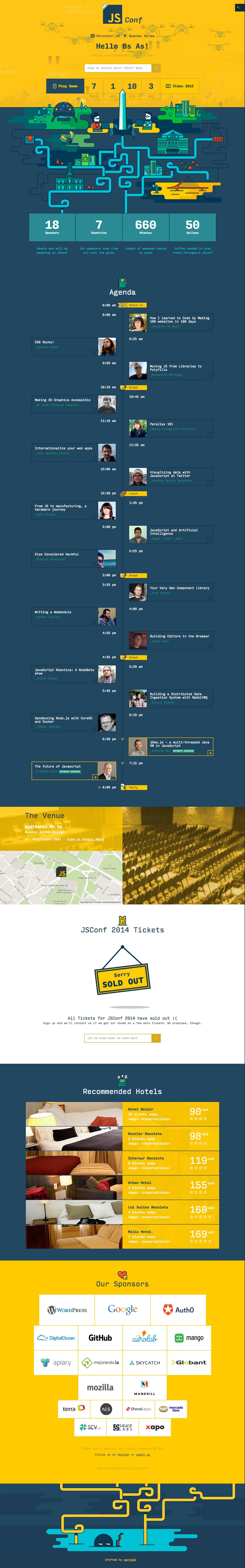 JSConf Website Screenshot