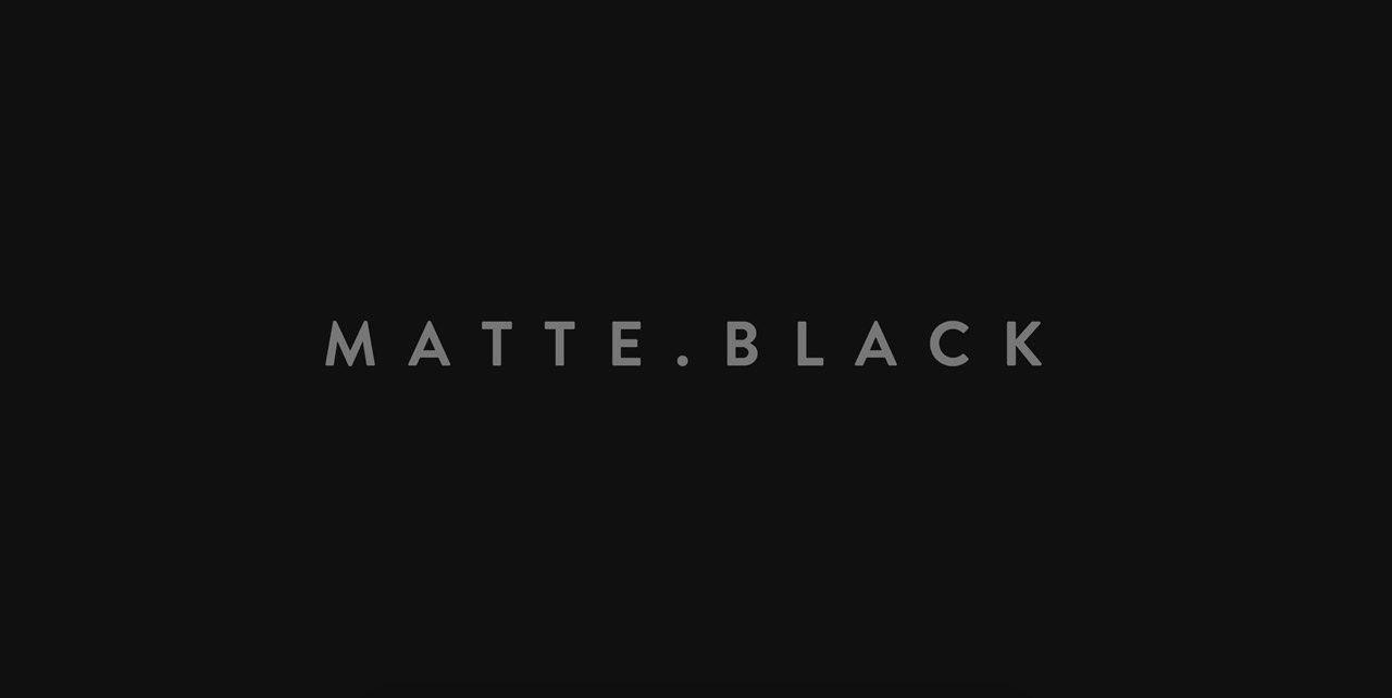 Matte Black Website Screenshot
