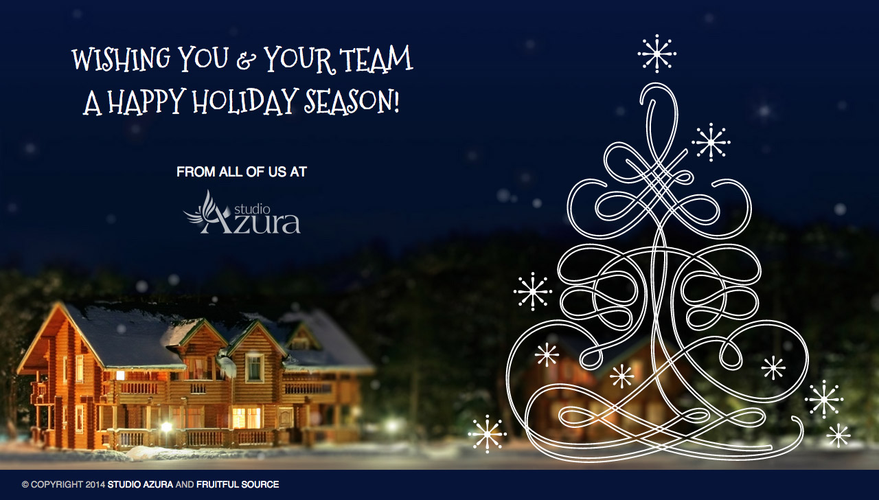Holiday Greetings 2014 Website Screenshot