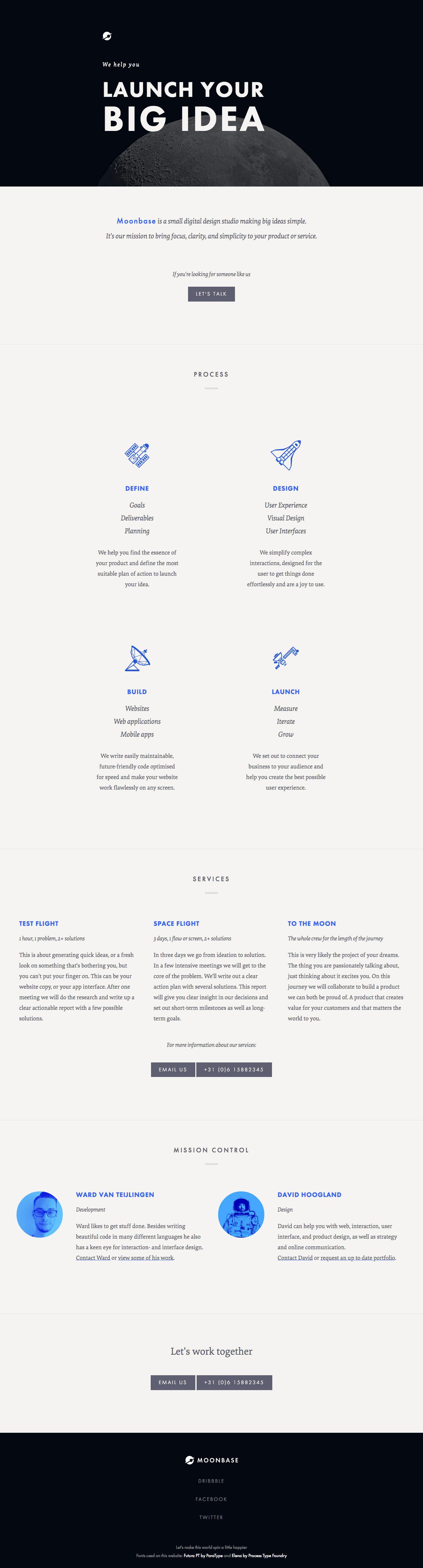 Moonbase Website Screenshot