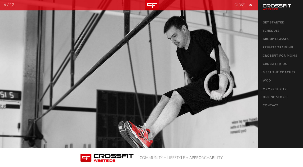 Crossfit Westside Website Screenshot