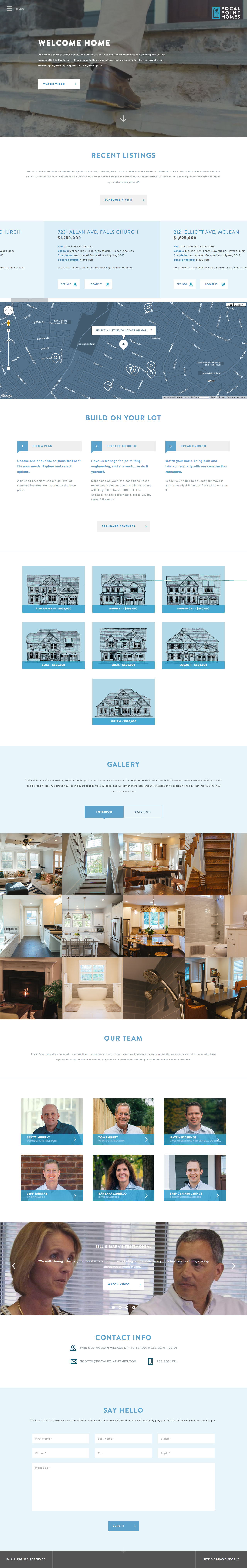 Focal Point Homes Website Screenshot