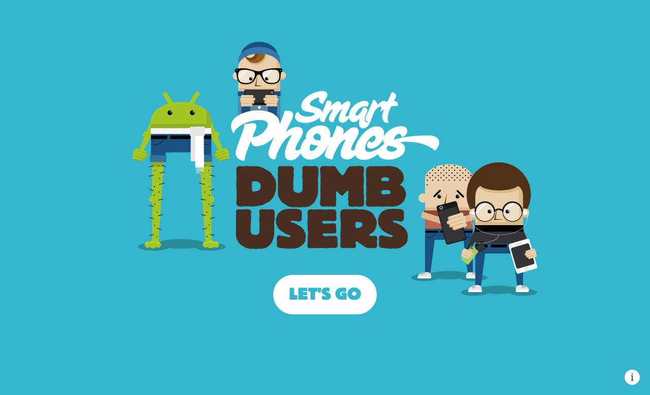 Smartphones… Dumb Users Website Screenshot